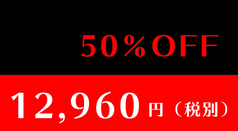 51%OFF 12,960円(税別)